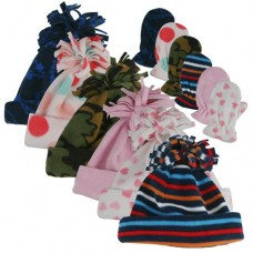 00456   -   BOY & GIRL MICROFLEECE CUFF HAT & MITTEN SET