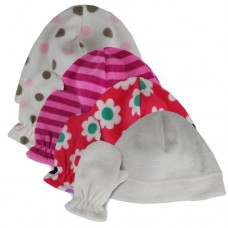 00470   -   SOFT MICROFLEECE BEANIE & MITTEN SET