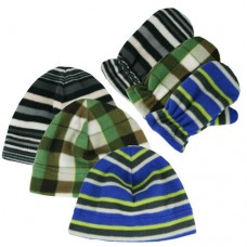 00482   -   PRINTED SPORT FLEECE BEANIE & GLOVE SET