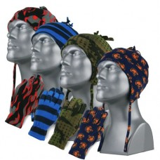 00490   -   PRINTED SPORT FLEECE HELMET & GLOVE SET