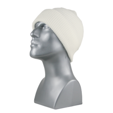 00711   -   ACRYLIC KNIT CUFF HAT   -   IVORY ONLY