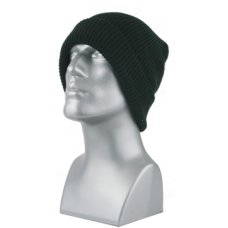 00717   -   ACRYLIC KNIT CUFF HAT   -   BLACK ONLY