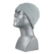 00719   -   ACRYLIC KNIT CUFF HAT   -   LIGHT GRAY ONLY