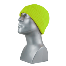 00794   -   SAFETY YELLOW ACRYLIC KNIT CUFF HAT