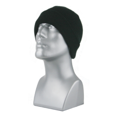 00798   -   ACRYLIC KNIT SUPER-STRETCH CUFF HAT   -   BLACK ONLY