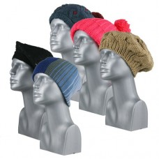 00804   -   ASSORTED HAND-KNIT ACRYLIC HATS