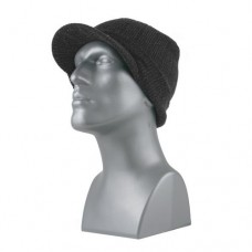 00824   -   ACRYLIC KNIT RIBBED VISOR CUFF HAT  -  ASSORTED