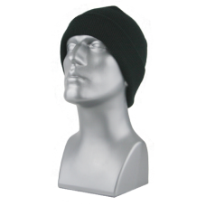 00846   -   ACRYLIC KNIT SUPER-STRETCH CUFF HAT  -  BLACK ONLY