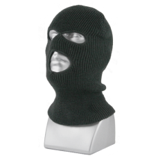 00948B   -   ACRYLIC KNIT 3-HOLE STRETCH FACE MASK   -  BLACK ONLY