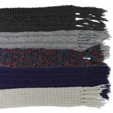 00972   -   HEAVYWEIGHT HAND-KNIT ACRYLIC SCARVES