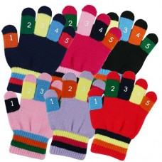 34111   -   BOYS/GIRLS KNIT STRETCH GLOVE WITH NUMBERS