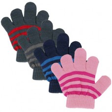 34119   -   BOYS/GIRLS KNIT STRIP STRETCH GLOVE