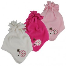 37025  -  GIRLS MICROFLEECE FLOWER HELMET