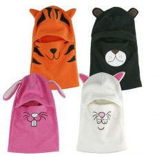 37050  -  BOY/GIRL FLEECE ANIMAL FACE MASK BALACLAVA