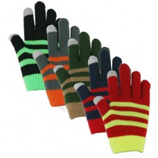 37140   -   TOUCHSCREEN STRIPED KNIT STRETCH GLOVE