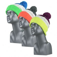 44137  -  NEON CABLE KNIT CUFF HAT