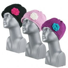 44170  -  CROCHET BEANIE WITH ROSETTE