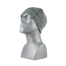 60120   -   VARIEGATED FLEECE BEANIE  -  CHARCOAL ONLY