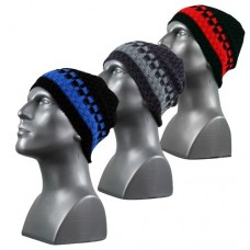 60124   -   ACRYLIC KNIT RAISED STRIPE BEANIE