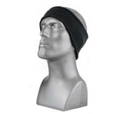 60770 - DOUBLE-LAYER SPORT FLEECE HEADBAND -  BLACK ONLY
