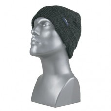 60843  -  HEAVY GAUGE MARLED CUFF HAT  -  CHARCOAL ONLY