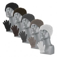 77034   -   CABLE-KNIT BEANIE AND MAGIC GLOVE SET