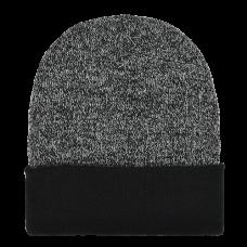 00798   -   ACRYLIC KNIT SUPER-STRETCH CUFF HAT - BLACK