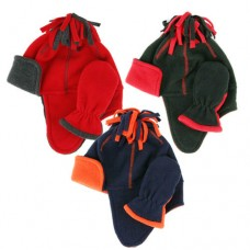 00428   -   BOYS SPORT FLEECE HELMET & MITTEN SET