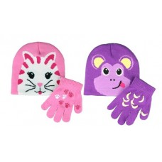 37004   -   GIRLS BEANIE AND GRIPPER GLOVE SET