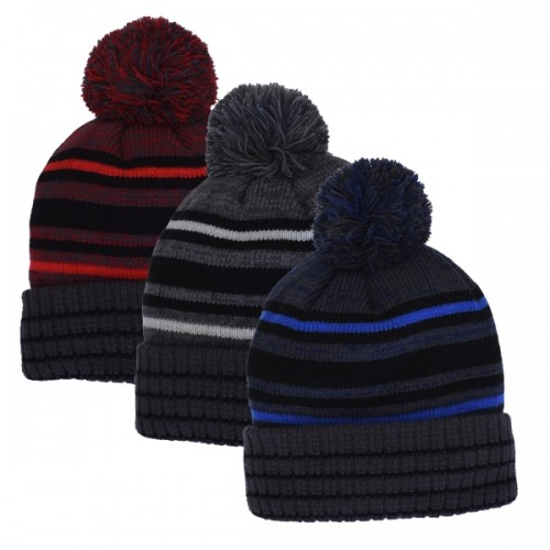56a126dc824 60131 - STRIPE CUFF HAT. Click Image for Gallery