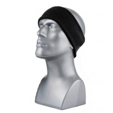 60768  -  DOUBLE-LAYER SPORT FLEECE HEADBAND - BLACK ONLY