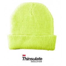 00841   -   HIGH VIS SAFETY THINSULATE ACRYLIC KNIT CUFF HAT