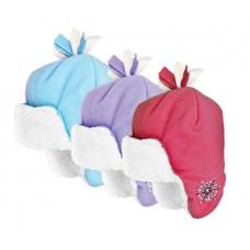 37025  -  GIRLS MICROFLEECE SNOWFLAKE HELMET