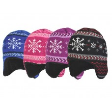 37035  -  BOYS & GIRLS SNOWFLAKE HAT