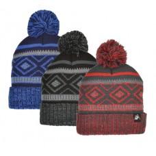 57212  -  BOYS FAIRISLE CUFF HAT - ONE SIZE