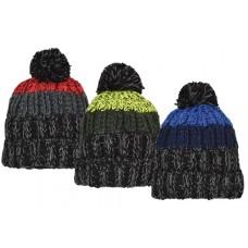 57232  - BOYS MARLED CHUNKY STRIPE CUFF HAT