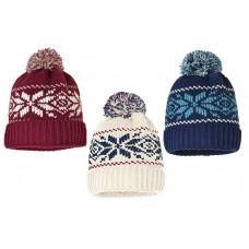 75102   -   SNOWFLAKE CUFF HAT