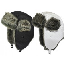 75472  -  QUILTED TRAPPER HELMET, FAUX FUR